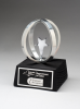 Chrome plated star in Aluminum Unisphere on Black Base Artistic Awards