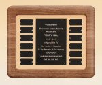American Walnut Frame Perpetual Plaque Monthly Perpetual Plaques