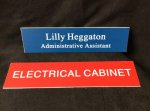 2 x 10 Plate 2 Lines Name Badges/Plates
